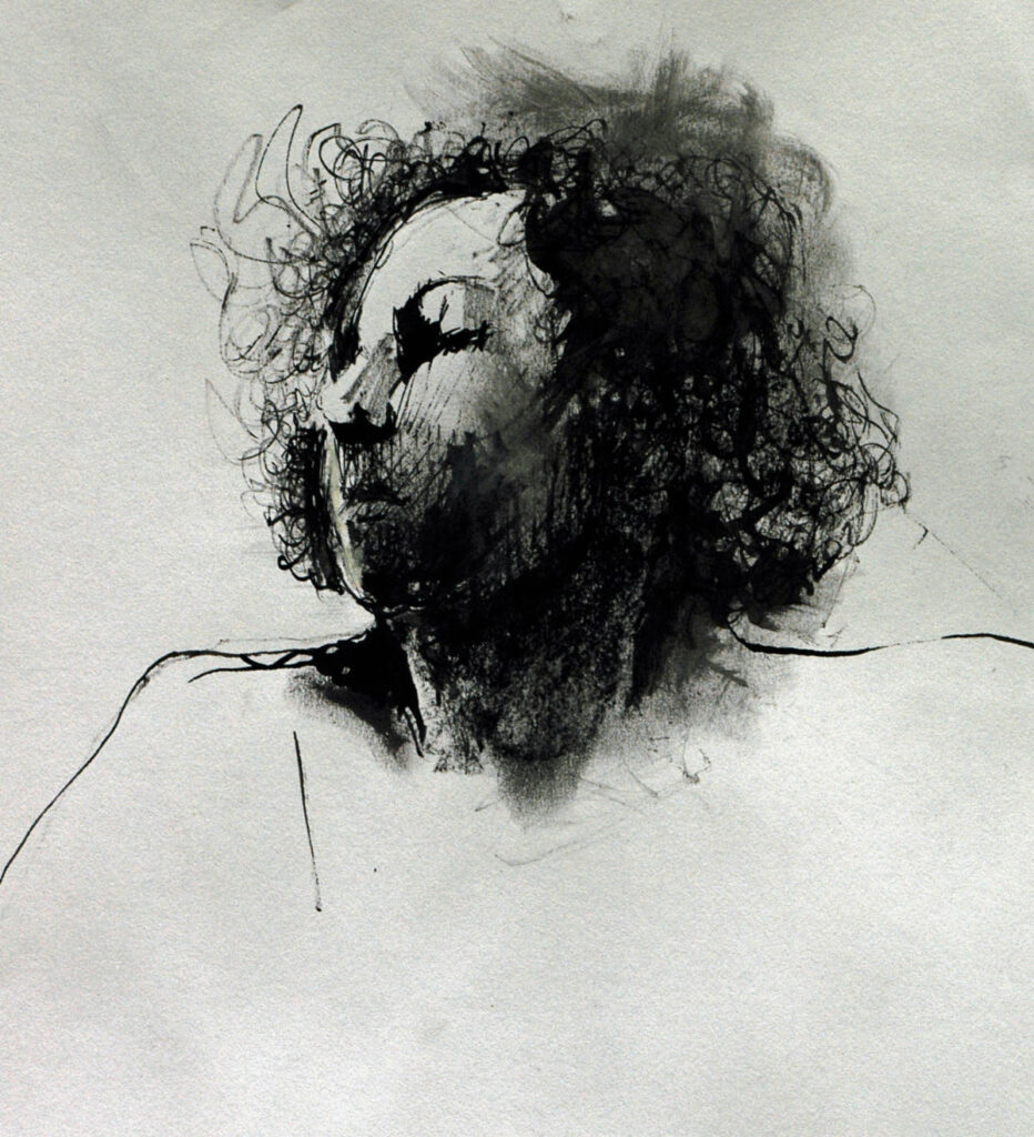 Joanna – Pen, Ink and Charcoal