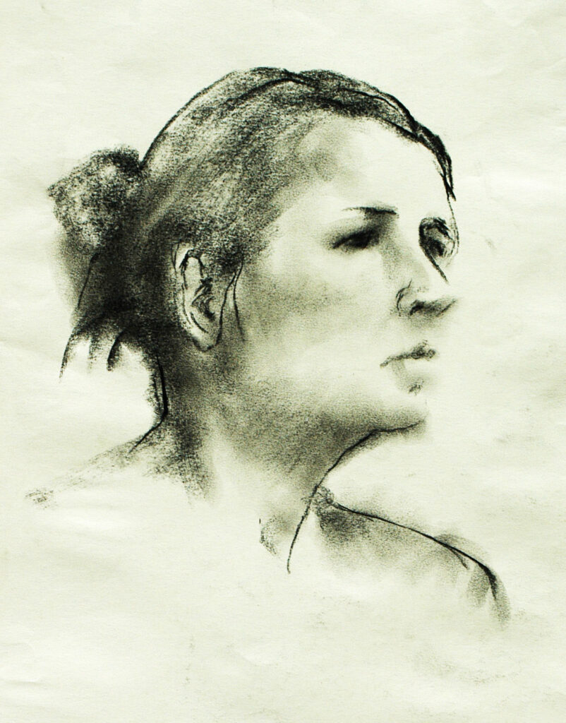 Marissa – Pen, Ink and Charcoal