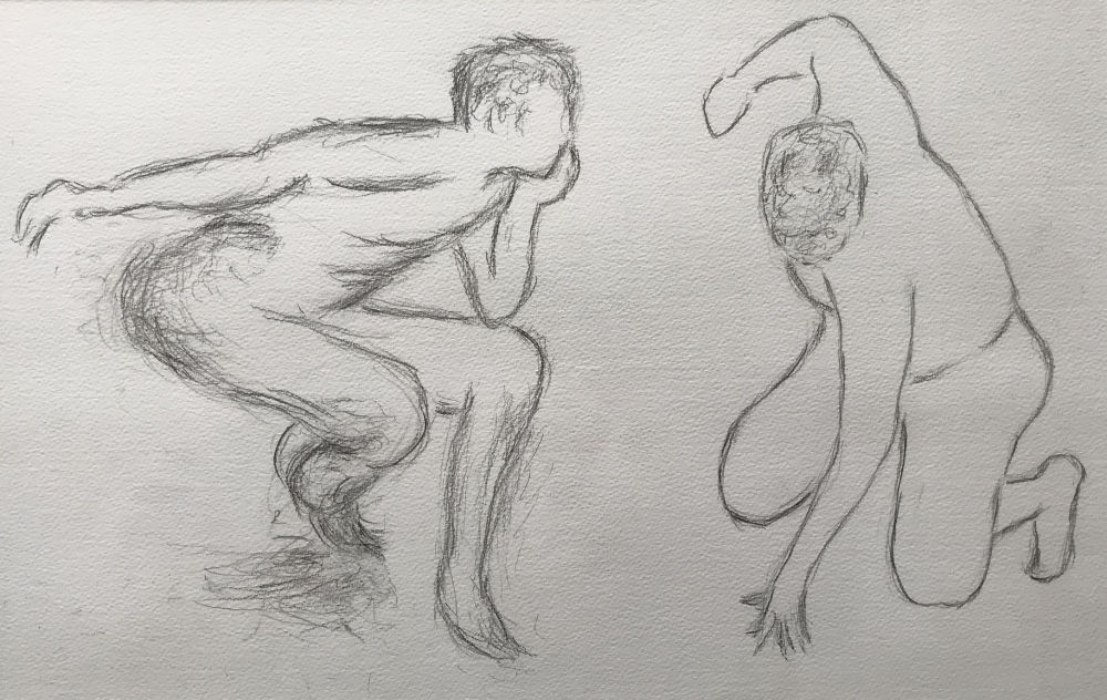 Rapid Poses - pencil on paper