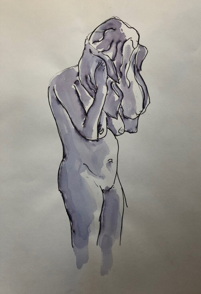 Ink and wash drawings