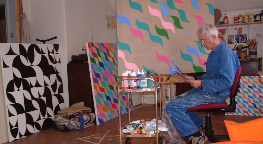 Mike in his studio