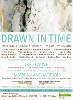 Drawn in Time poster. Design by Lynne Duric