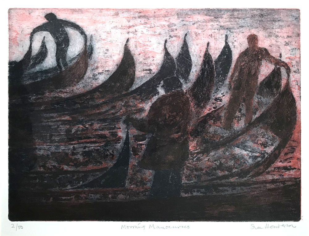Morning Manoeuvres - etching and aquatint