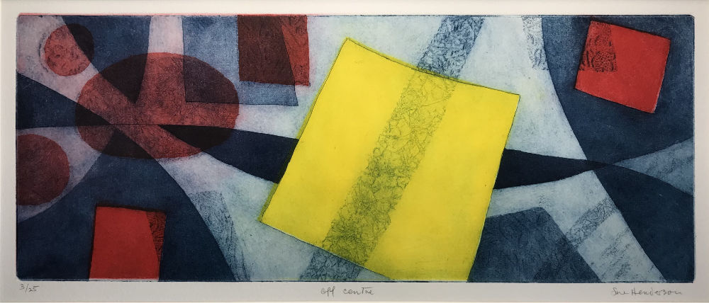 Off Centre - etching and aquatint