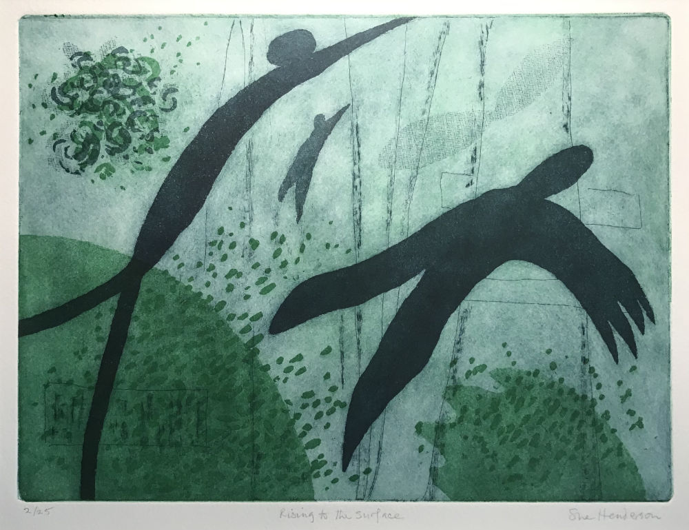 Rising to the Surface - etching and aquatint